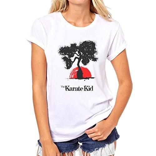 The Karate Kid Ink Simple Red Sun Damen T-Shirt Weiß