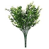 PRIMI 7Zweige Home Hochzeit Dekoration Künstliche Kunststoff Kleine Blätter Pflanze Eukalyptus Gras–Grün