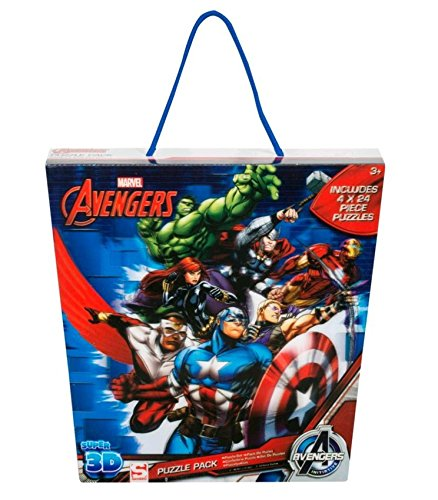 sambros ave-5596Marvel Avengers Linsenraster 3D Puzzle-Set (4Stück)