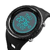 Neuf Boussole montre de militaire pour homme, Sports poignet montre numérique avec grand cadran Mode LED électronique Montre-bracelet armée étanche Noir montres