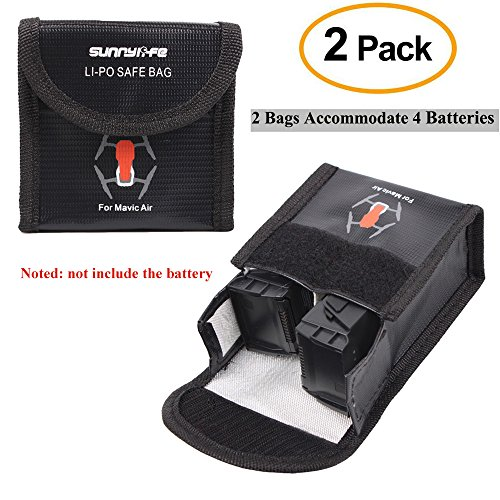 Crazepony-UK 2Pcs Lipo Battery Safe Bag for DJI Mavic