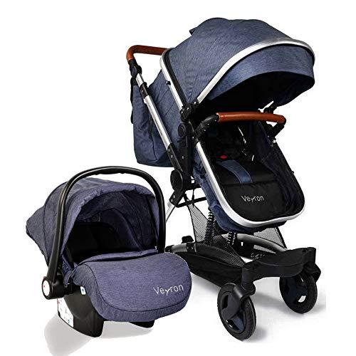 681c38a9b Carro bebé 3 piezas, capazo + silla de paseo + silla de coche + accesorios