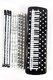 Paquete de 15 lápices de temática musical (3) diseño de Blanco Puntos Claves del piano Negro PVC de plástico caja de lápiz de Set