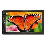 ZHIXX MALL 2 Din Autoradio MP5 Player,7 Zoll HD Touchscreen Universal Auto Radio mit Rückfahrkamera,GPS/USB/AM/FM/DVD/Radio/Bluetooth/USB/TF/AUX IN/Ausgabe/Mirrorlink