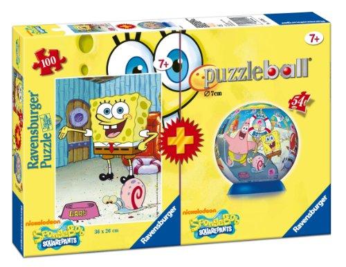Bob Esponja - Pack de puzzleball y puzzle (Ravensburger 10638 7)