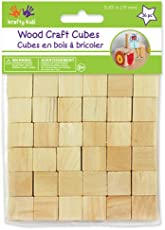 Multicraft Imports Craftwood 5/8 Wooden Cubes 36/Pkg-Natural