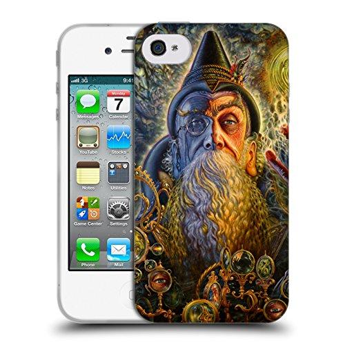 16 Seher (Offizielle Myles Pinkney Seher Fantasy 2 Soft Gel Hülle für Apple iPhone 4 / 4S)