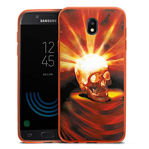 (DeinDesign Slim Case kompatibel mit Samsung Galaxy J5 2017 Silikon Hülle Ultra Dünn Schutzhülle Totenkopf Skull Halloween)