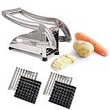 Premium in Acciaio Inox–Tagliapatate Taglia Patate Patatine Fritte con 2pialla–Frutta e Verdura per Patate e
