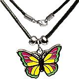 Unbekannt Kette -  bunter Schmetterling  - für Kinder & Erwachsene - Schmuck / Anhänger aus Metall - Schmetterlingsanhänger - Edelstahl / Metall - Sterlingsilber / SI..