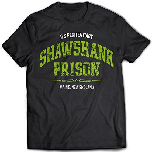 9244 Shawshank State Prison Herren T-Shirt The Redemption Penitentiary Red Steven King Shining Jail Schwarz