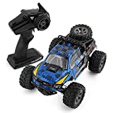 YRE 1:18 Pick-up télécommande SUV, Boy Kids Voiture de contrôle à Distance Bigfoot Voiture d'escalade, 2.4 G de Jouets électriques Rechargeables,Blue