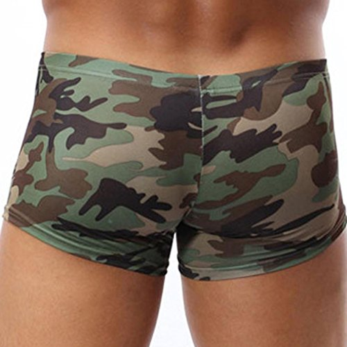 Qmber Mode Höschen, Military Disguise Boxer Höschen Shorts Underpant Camouflage Mode (M, Tarnung) (Shorts Military Boxer)