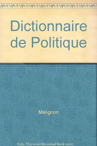 Dictionnaire de politique