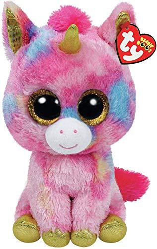 "Beanie Boo Unicorn - Fantasia - Multicoloured - 23cm 9"""