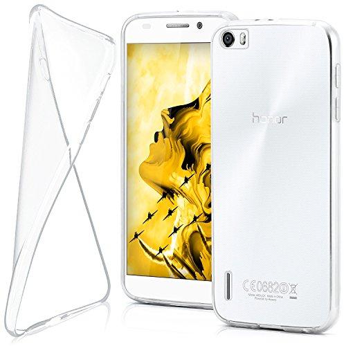 moex Huawei Honor 6 | Hülle Silikon Transparent Klar Clear Back-Cover TPU Schutzhülle Dünn Handyhülle für Honor 6 Case Ultra-Slim Silikonhülle Rückseite
