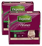 #9: Depend For Women Adult Diaper - Large, Pack of 2 (Peach, Women - L - Pack of 2)