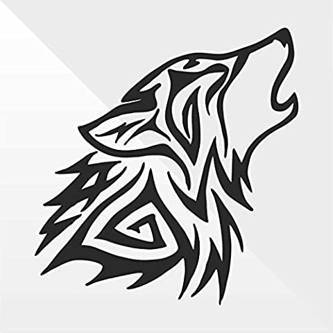 Sticker Lupo Wolf Loup Lobo - Decal Auto Moto Casco Wall Camper Bike Adesivo Adhesive Autocollant Pegatina Aufkleber - cm 10