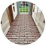 HAIPENG-alfombras pasillo 3D Camino Modelo Corredor Entrada Estera Largo Alfombras Antideslizante Fácil De Limpiar Tamaño Personalizado (Color : A, Tamaño : 1x7m)