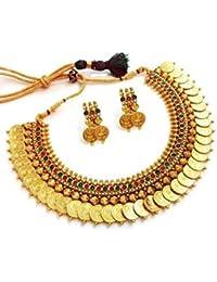 YouBella Golden Plated Jewellery Set for Women (Multi-Colour)(YBNK_3451_FON)