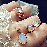 Jovono Fashion - Juego de collar y pendientes con colgante de diamantes de imitación para cumpleaños, amistad, joyas, día de la madre, regalo