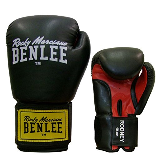 BENLEE Boxhandschuhe RODNEY PU Training Gloves - Black/Red Größe 12
