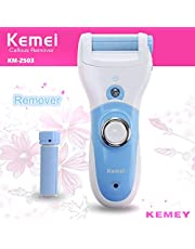 Kemei Km-2503 Rechargeable Electric Foot Dead Dry Skin Callus Remover with Extra Bonus Roller (Multicolor)