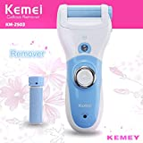 Kemei KM-2503 Foot Care Remover Rechargeable Electric Foot Dead Dry Skin Callus Remover with Extra Bonus Roller by EzLife