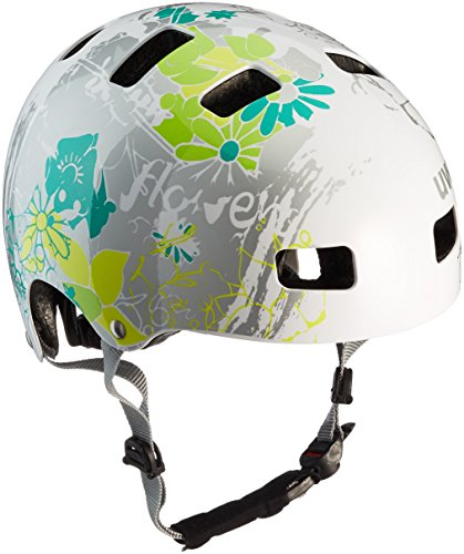 UVEX Kinder Kid 3 Radhelm, White Flower, 55-58 cm