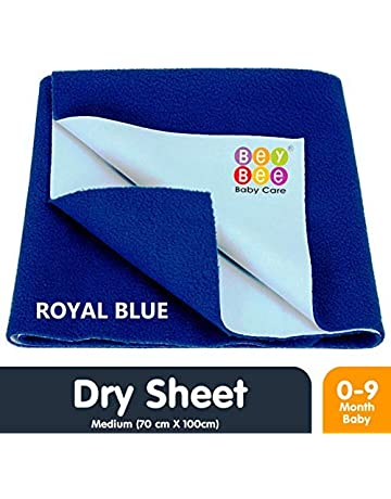 Bey Bee Just Dry Baby Care Waterproof Bed Protector Sheet - Medium (Royal Blue)