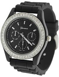 Geneva Mujer Platinum chronograph-style Correa de silicona