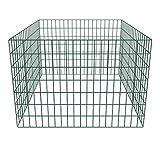 Festnight- Metall Zaun Drahtgeflecht Gartenzaun Gitterzaun Zaunelemente für Gartenkomposthaufen Quadratmaschenzaun Stahl 100 x 100 x 70 cm