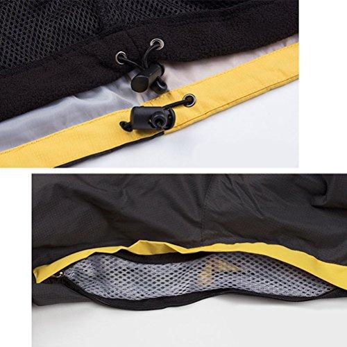 Zhuhaitf Giacche Soft Shell Per Uomo 3 In 1 Impermeabile Antigraffio Resistente ai Graffi Cappotto Casual per Viaggiare in Campeggio ecc Blu navy