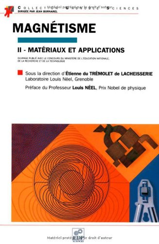 Magnétisme II : matériaux et applications