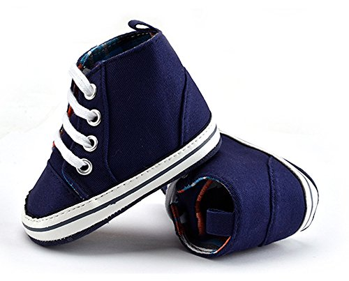 Lauflernschuhe,Tonsee baby Shoes winter Walking Weiche Sohle Canvas Prewalker Schuhe Marine