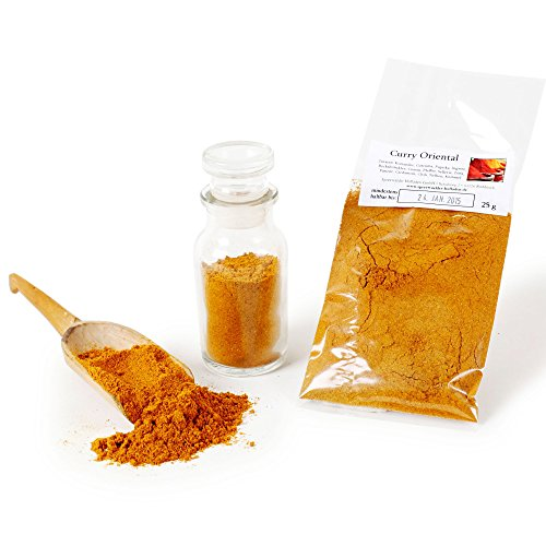 Curry Oriental, Curry-Pulver, Curry-Gewürz, Curry-Gewürzmischung, Curry-Huhn, Currygewürz, 25g