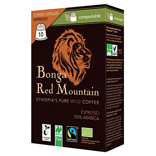 Bonga Red Mountain Espresso kompostierbare Kapseln 55 g