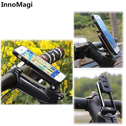 Soporte Movil Bicicleta Universal Rotación de 360°, Sostenedor Smartphone Bici y Bicicletas de Montañas MTB con 3M Adhesivo para iPhone X/8/8plus/7/6s/5s Samsung S8 Edge S6 S5 Note 5 HTC LG - InnoMagi