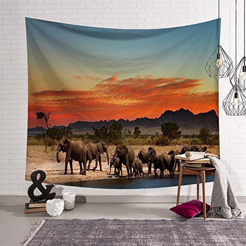 Rjjdd Serie De Elefantes Ins Home Colgante Tapiz Decorativo Impreso Colgante De...