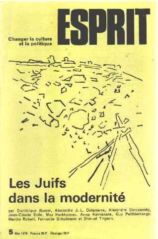 Revue esprit mai 1979 / les juifs dans la modernité