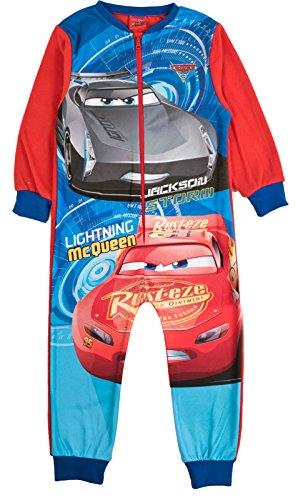 Kinder-Pyjama aus Vlies mit Aufdruck, Einteiler, Alterstufe: 1–8Jahre Gr. 3-4 Jahre, Disney Cars - Cars 3