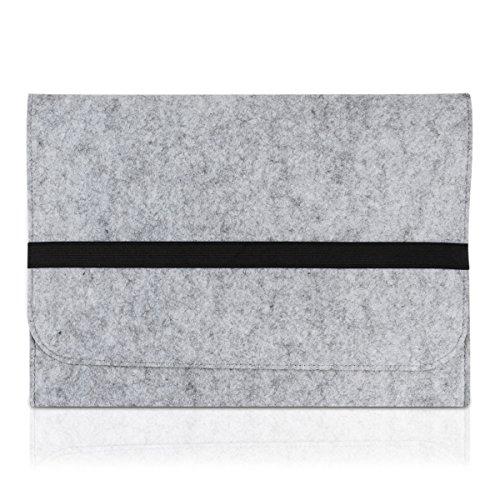 """kwmobile Laptoptasche Filz Sleeve für 17"""" 17,3"""" Laptop / Notebook / Ultrabook - Notebook Tasche Schutzhülle Laptop Case Hülle in Grau mit Innentaschen Innenmaße: ca. 45,5 x 34,5 cm"""