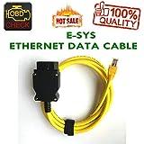 New Ethernet RJ45 Enet OBD OBDII OBD2 E-SYS ICOM Codierung F-Serie Yellow Kabel-HR-Tool®