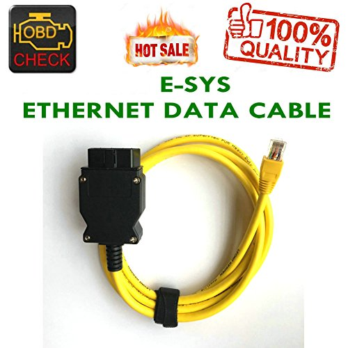 New Ethernet RJ45 Enet OBD OBDII OBD2 E-SYS ICOM Codierung F-Serie Yellow Kabel-HR-Tool® Icom-modelle