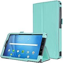 Samsung Galaxy Tab A 10.1 Funda, SAVFY Cascara Case de Cuero PU ( con Auto Reposo / Activación Función ) Ranuras para Tarjetas, Monedero, Banda Elástica, Sostenedor de la Pluma para Samsung Galaxy Tab A 10.1 2016 (SM-T580 \ SM-T585) (A6) , Verde