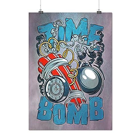 Zeit Bombe Explodieren Mode Mattes/Glänzende Plakat A3 (42cm x 30cm) | Wellcoda