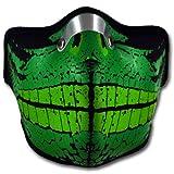 WINDMASK Neopren Biker Motorrad Maske Sturmmaske Skimaske - Leguan Echse, Größe:L - Large