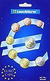 Münzkapsel-Sortiment für einen Euro-Kursmünzensatz