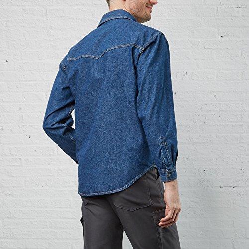 PIONIER WORKWEAR Herren Jeanshemd stone-washed langarm in blau (Art.-Nr. 922) Blau