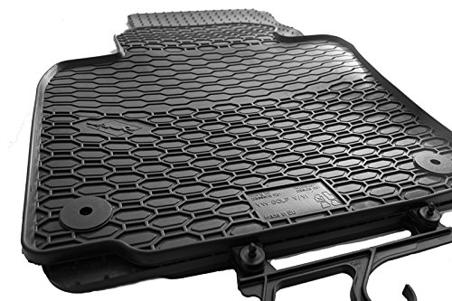kh Teile Golf 5 6 Gummimatten Original Qualität Gummi Fußmatten 4-teilig schwarz